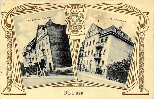 100. Dt.- Lissa, Villa Elfrieda und Elsa, Villa Hindenburg.