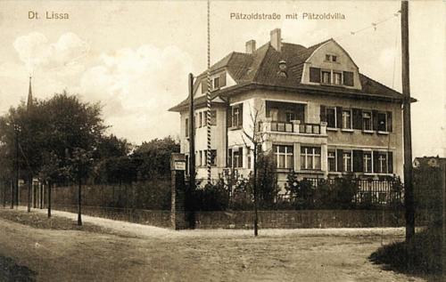 16 Dt. Lissa. Patzoldstrasse mit Patzoldvilla.