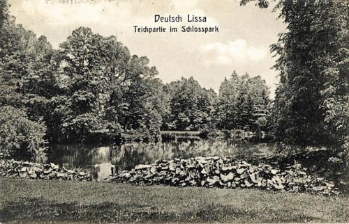 20 Deutsch Lissa. Teichpartie im Schlosspark.