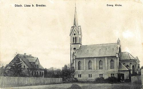 23 Dtsch. Lissa b. Breslau. Evang. Kirche.