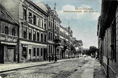 3 Deutsch-Lissa. Breslauerstrasse mit Brucke.