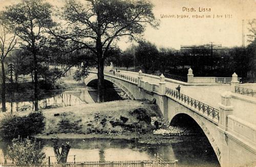 7 Dtsch. Lissa - Weistritz.brucke, erbaut im Jahre 1912.