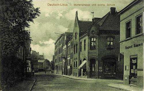 8 Deutsch-Lissa. Marienstrasse und evang. Schule.